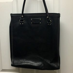 old school kate spade leather tote